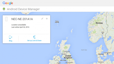Find your Android devices with Android Device Manager